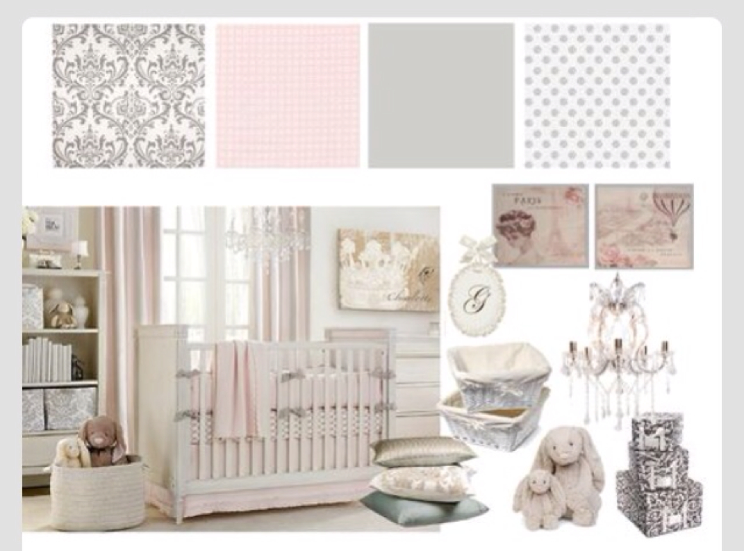 Baby Girl Nursery Ideas Pink Grey And White Theme